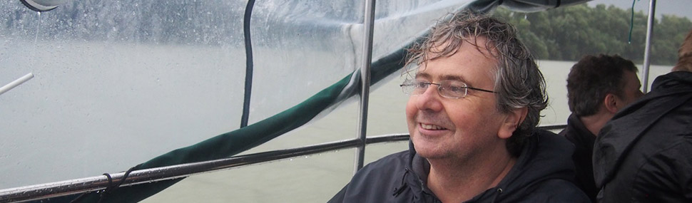 DISCO Coordinator Paul Fraser defying the weather